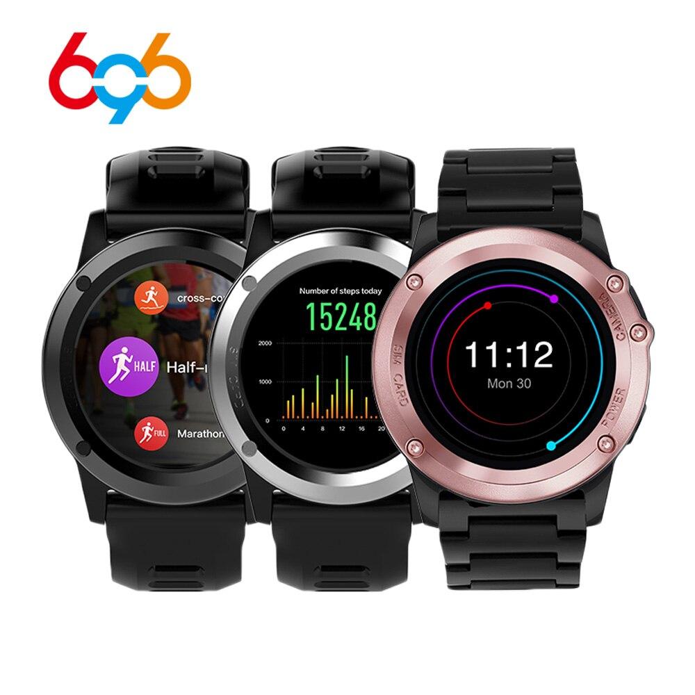 696 H1 montre connectée android 4.4 OS Sport Smartwatch MTK6572 512 MB 4 GB ROM GPS SIM 3G moniteur de fréquence cardiaque Caméra IP68 étanche