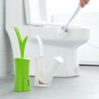 Creative Lovely Grass Shape Lavatory Toilet Brush And Holder Set Bathroom Tool F313