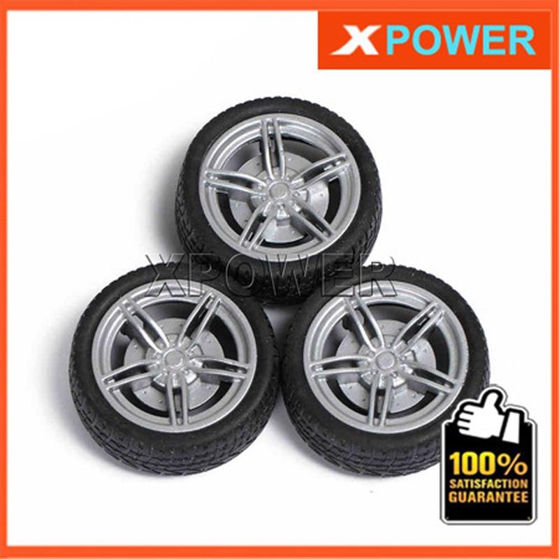 Free shipping 10pcs/lot Wheel Tyre 40X3mm Wheel set RC Rubber Tires Tyre & Wheel Rim For RC Robot Project free shipping wholesale for rc car 4pcs lot no 2 1401 rubber wheel tire aperture 2 10mm toy wheel tyre 70x12mm
