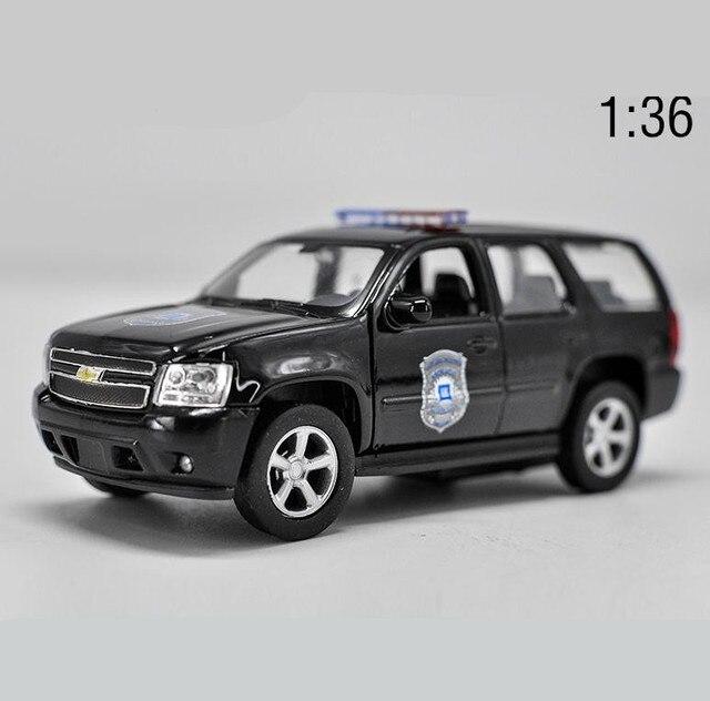 1:36 높은 모조 합금 모델 자동차, 시보레 타호 당겨 금속 자동차 장난감, 2 오픈 도어 정적 모델 장난감 차량, 무료 배송