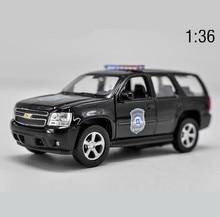 1:36 auto modello in lega ad alta imitazione, Chevrolet TAHOE tirare indietro giocattolo auto in metallo, 2 porte aperte modello statico veicolo giocattolo, spedizione gratuita