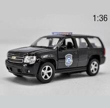 1:36 высокоимитационная модель автомобиля из сплава, металлическая игрушечная машинка Chevrolet TAHOE, статическая модель с 2 открытыми дверями, игрушечный автомобиль, бесплатная доставка