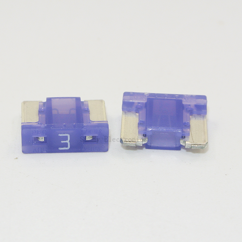 10pcs 3a Fuses Micro Short Low Profile Mini Blade 3a Amp Aps  Att Fuse For Honda Toyota Lexus