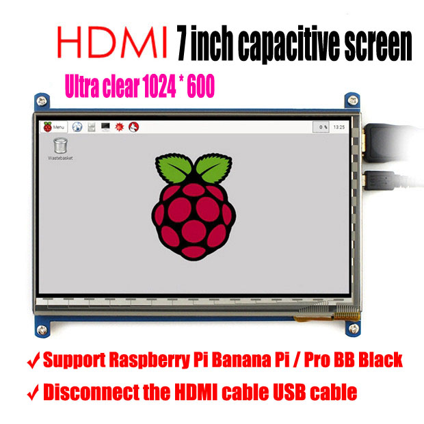 2017 latest version 7 inch LCD screen display for Raspberry Pi IPS raspberry pie ultra clear screen 1024X6002017 latest version 7 inch LCD screen display for Raspberry Pi IPS raspberry pie ultra clear screen 1024X600