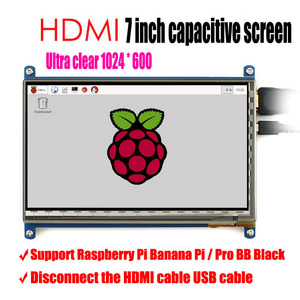 Image 1 - 2017 neueste version 7 zoll LCD screen display für Raspberry Pi IPS raspberry pie ultra clear screen 1024X600