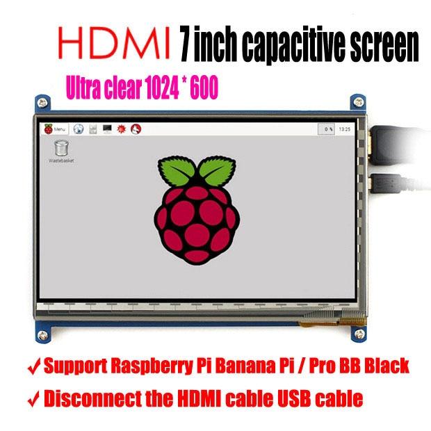 2017 neueste version 7 zoll LCD screen display für Raspberry Pi IPS raspberry pie ultra clear screen 1024X600