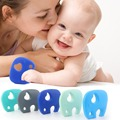 Silicone Teething Animal Elephant Pendant Toy for Infant Baby Toddler