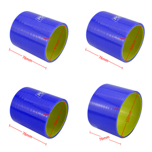 "Image 2 - BLUE & Yellow 2 51mm / 2.5"" 64mm / 3"" 76mm / 4"" 102mm Straight Silicone Intercooler Turbo Intake Pipe Coupler Hose"