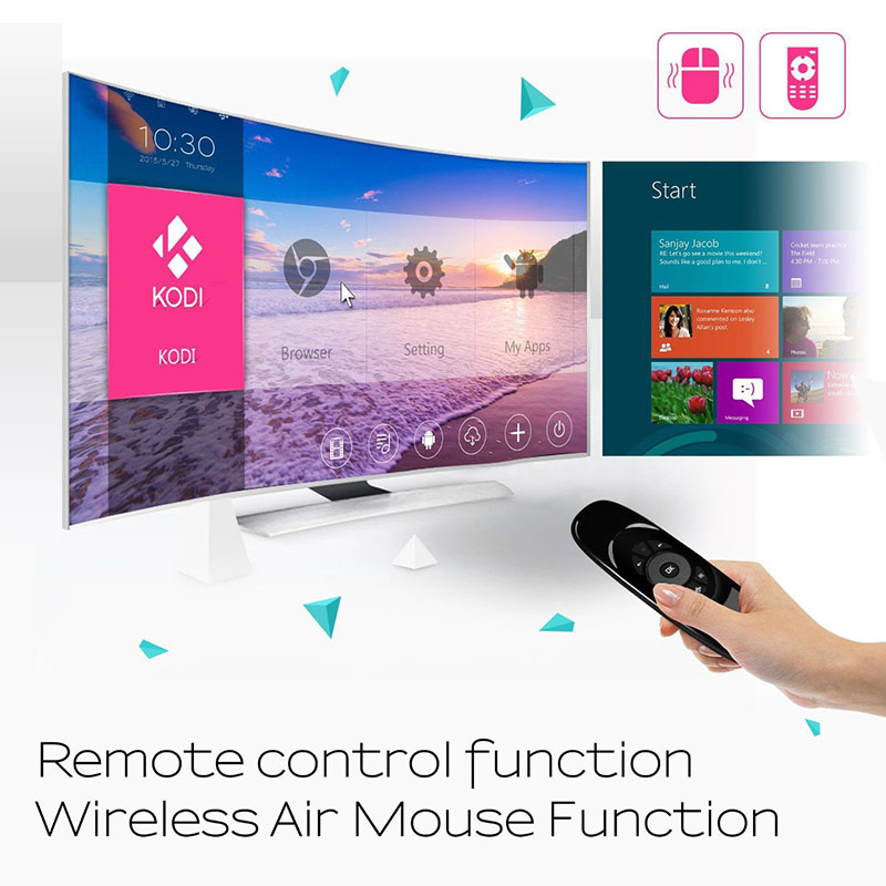 Hot Smart Cool 2.4G Mini Flying Air Mouse Portable Wireless Handheld Keyboard Gyroscope Remote Controller 3D Q99 DJA99