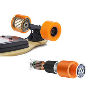 Image 4 - Longboard Elettrico Skateboard Singolo Motore Hoverboard 4 Ruote di Skateboard Con Telecomando 600 W Kit Motore Del Mozzo
