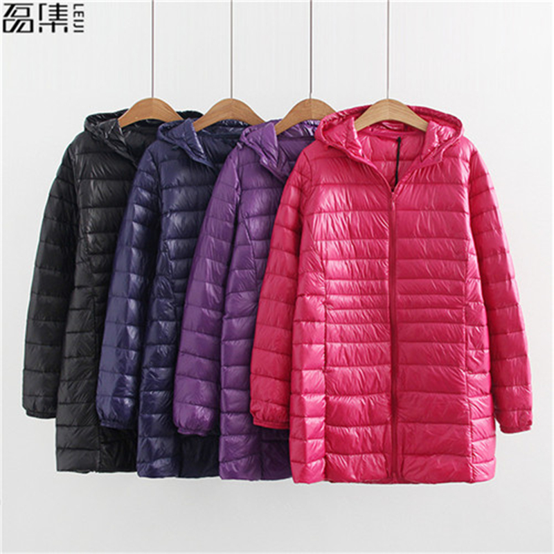 90% White Duck   Down   Women's Jacket Autumn Winter 11 Colors plus size Warm Slim Zipper female Fashion Light   Down     Coat