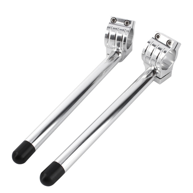 One Pair Motorcycle Universa 41mm Fork Clip-ons Handle Bars CNC Riser Regular Handlebar