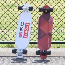80*20*11cm Professional Dancing Longboard Deck Freestyle Street Skateboard Canadian Maple Longboard Cruiser 4 Wheels Skate цена