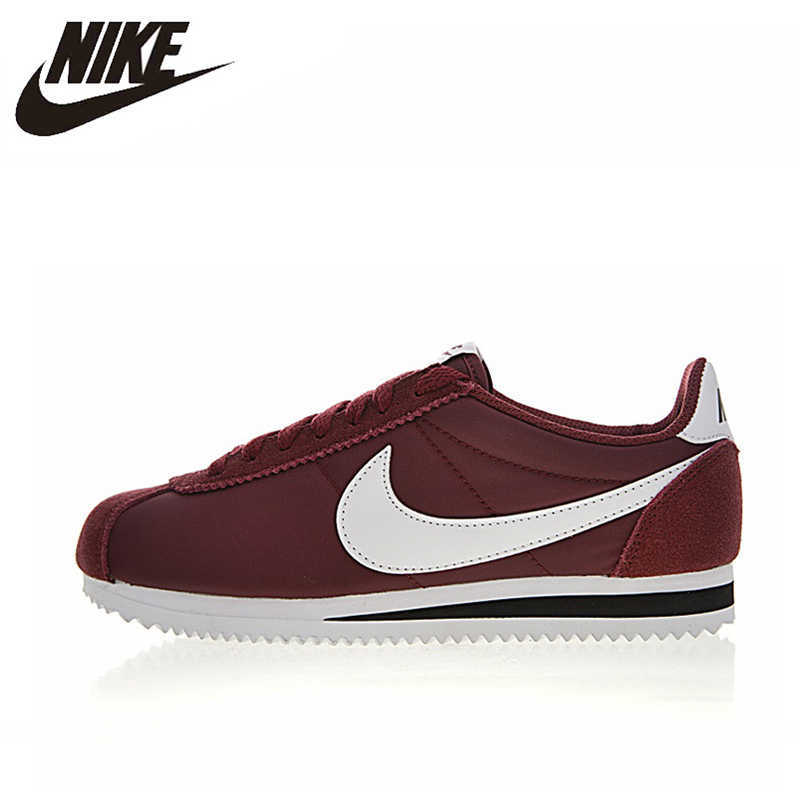 new styles 1e70c 5bede Nike CLASSIC CORTEZ NYLON Women s Running Shoes , Outdoor Sneakers Shoes,  Red Grey, Lightweight