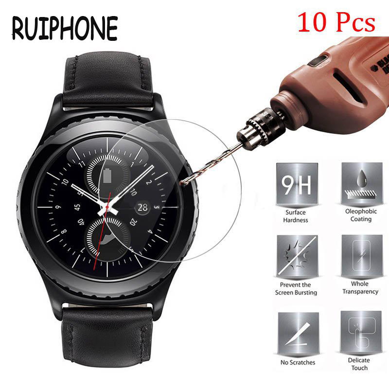 10 Pieces RUIPHONE Tempered Glass for Samsung Gear S3 Screen Protector 9H 2.5D 34MM <font><b>Protection</b></font> <font><b>Film</b></font> for Samsung Gear S3 Glass