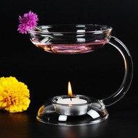 Aromaterapi Aroma Lamba El Yapımı Şeffaf Cam Mumluk Kristal Cam Şamdan Centerpieces Ev Dekorasyonu Noel