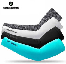 ROCKBROS Summer Cycling Sleeves Women Men UV Protection Arm Warmers Basketball Cool Bike Arms Sport Accessories