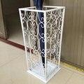 Blanco hierro Forjado paragüero paragüero hogar rack de almacenamiento paraguas cubo Francés
