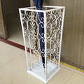 White Wrought iron umbrella stand household umbrella stand umbrella storage rack French bucket