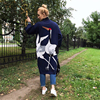 Nerlerolian High Quality Women Cardigan Sweaters Plus Size Full Sleeve Crane Print Knitted Warm Sweaters