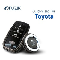 Fuzik Keyless Go Smart Key Keyless Entry Push Remote Button Start Car Alarm for toyota camry corolla yaris highlander prado rav4