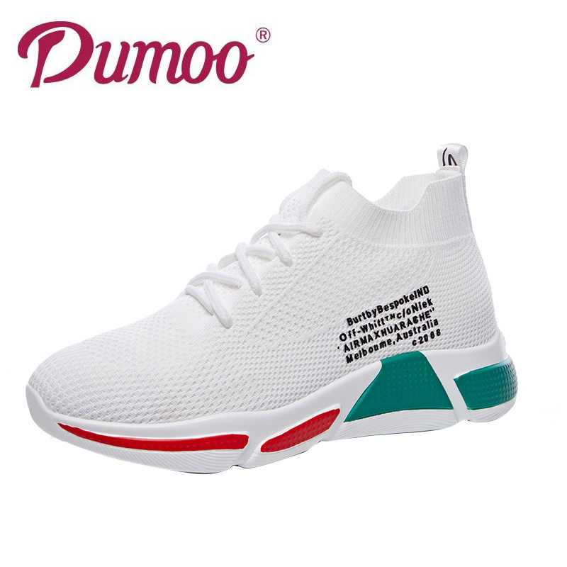 fdffc50efe 2019 Dumoo Girl Women Sneakers Shoes White/Black Breathable Spring Casual  Shoes Female Colors Shoes Zapatillas Mujer Deportiva
