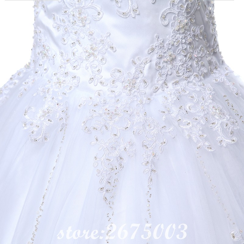 SINGLE ELEMENT Real Photo Princess Lace Ball Gown Bridal Wedding Dresses in Wedding Dresses from Weddings Events