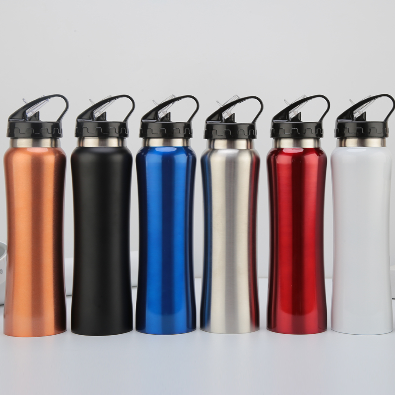 500ml Portable Sports&outdoor Vacuum Flasks 304Stainless steel Kettle American Style Large Caliber Thermos Straw Water Bottle