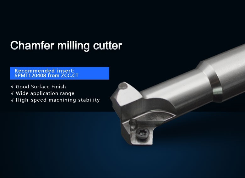 quality asmade in Zhuzhou surance CMD01-025-G25-SP12-02 chamfer milling tools milling cutter for carbide inserts SPMT120408 refer to cmz01 032 g32 sp12 03 or zc01 12z32 032 03 chamfer milling tools for inserts spmt120408