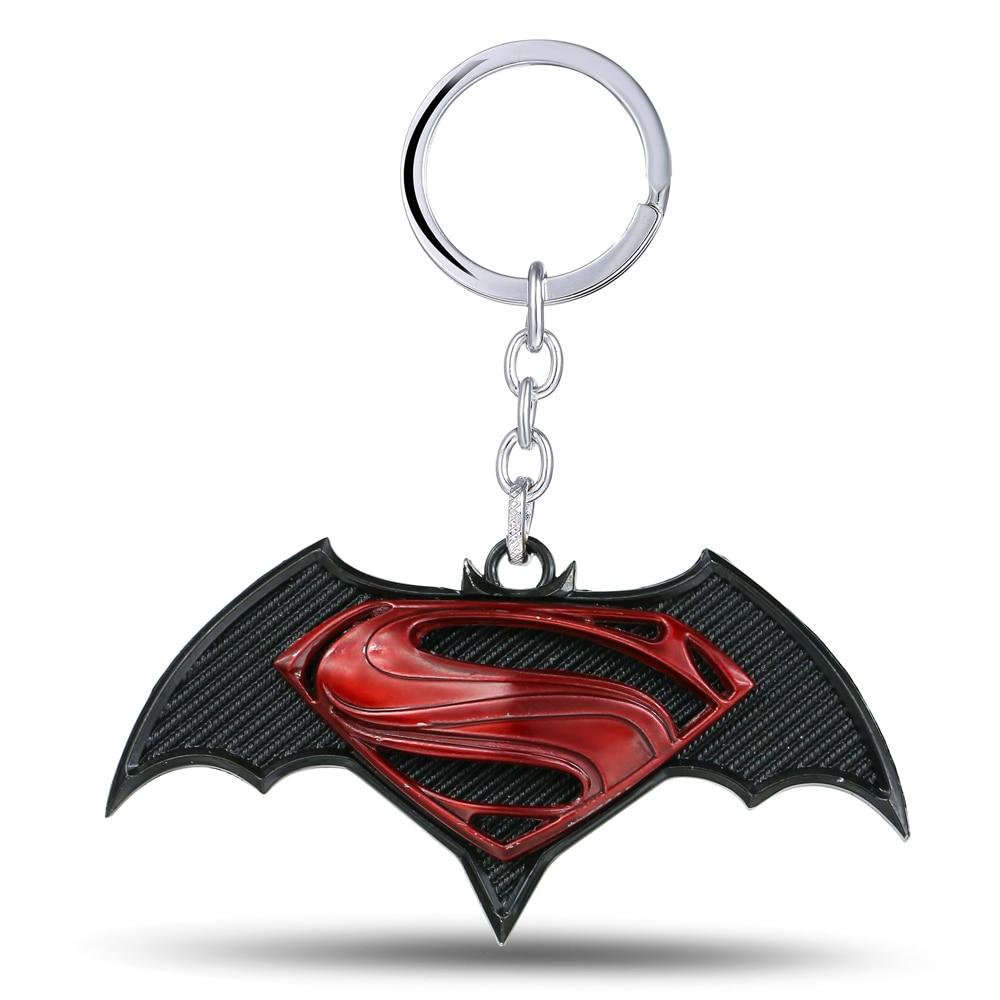MS JEWELS Present Jewelry Movie Fans Batman V Superman Keychain Metal Key Rings For Gift Chaveiro Key Chain