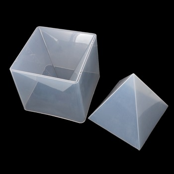 Free shipping free shipping super pyramid silicone resin mold mould resin craft jewelry crystal mold with plastic frame