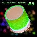 2017 Más Nuevo Altavoz Inalámbrico LLEVÓ MINI TF USB Portable Music Sound caja de Subwoofer A9 Louds Altavoces con Micrófono como el regalo de Navidad