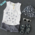 2016 New 2PCS Baby Boys Summer Sleeveless Shirt Tops + Shorts Set Kids Casual Outfits Sports Suit For Baby Kids Boy Clothes