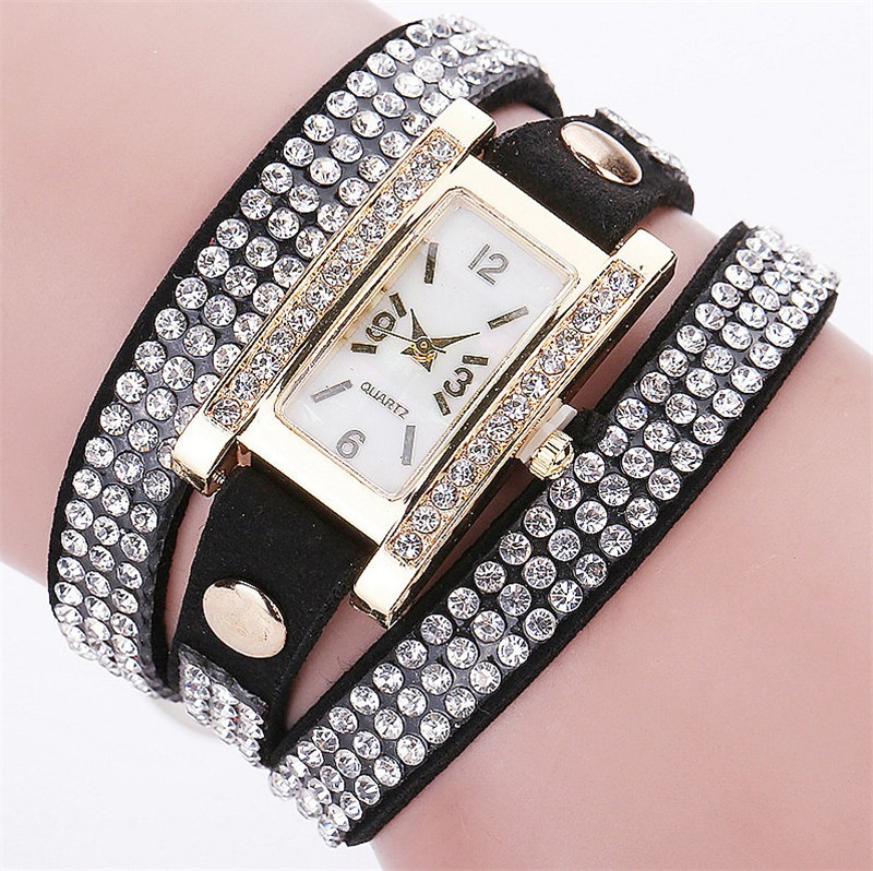 CCQ Brand Women Leather Strap Quartz Watches Rhinestone Wrist Watch Reloj Mujer Women Dress Watch relogio feminino meibo brand fashion women hollow flower wristwatch luxury leather strap quartz watch relogio feminino drop shipping gift 2012