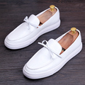 Genuine Leather Men Loafers Shoes Casual Men's Fashion Flats Design White Black Man Driving Shoes Soft Bottom Leather Shoes