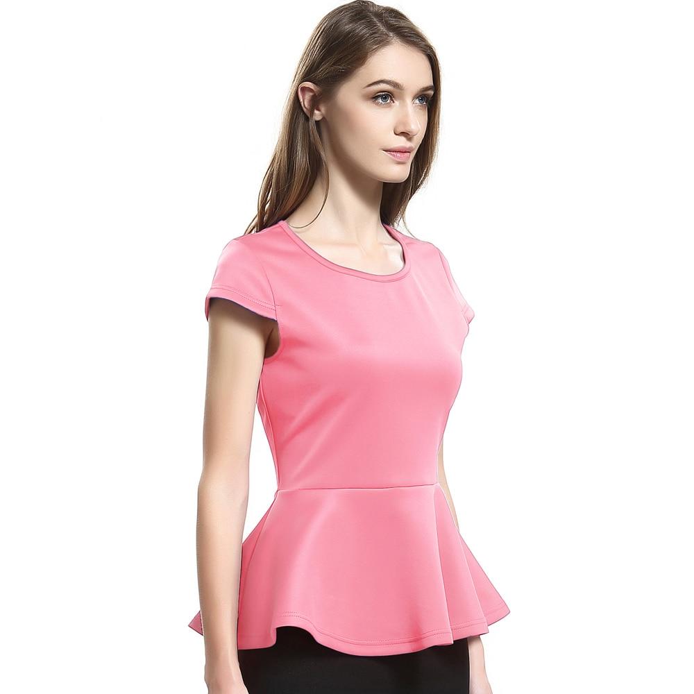 Escalier 2017 Yaz Kadın T-Shirt Rahat Kadın Kısa Kollu Tees Tops - Bayan Giyimi - Fotoğraf 4