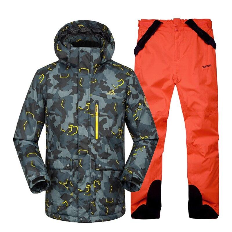 b7312d5f Camuflaje barato hombres ropa de nieve deportes al aire libre traje de  esquí traje de conjuntos de snowboard esquí impermeable a prueba de viento  ...