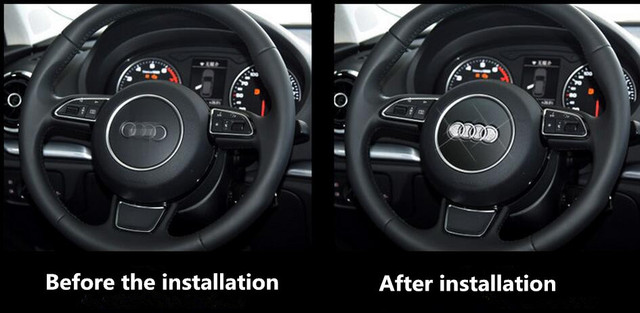 2016 new steering wheel decorative accessories for Audi A1 A3 A4 B5