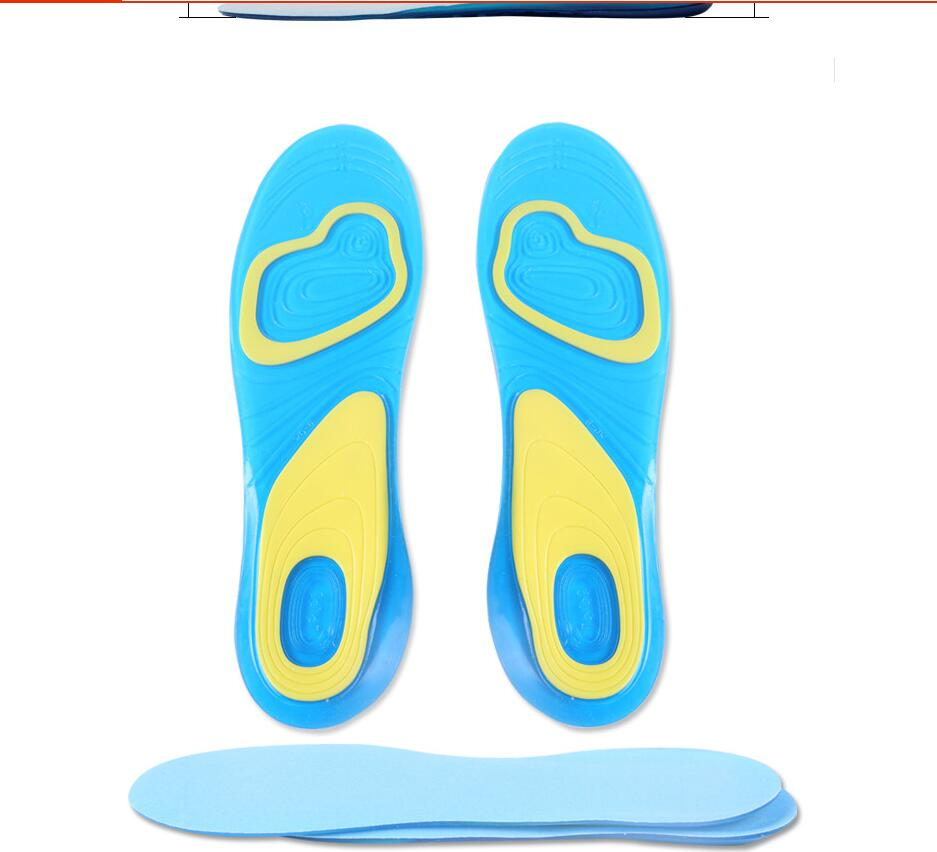 5 Pair Orthotic Arch Support Massaging Silicone Anti-Slip Gel Soft Sport Insole Pad Foot Care For Man Women Size S/L kut 33 men and women sport shoes insole pad orthotic arch support massaging anti slip soft shock absorption silicone gel insoles