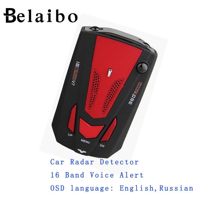 gps tracker Car Radar Detector 16 Band Voice Alert V7 anti Laser radar detector LED Display Car Electronics car-styling