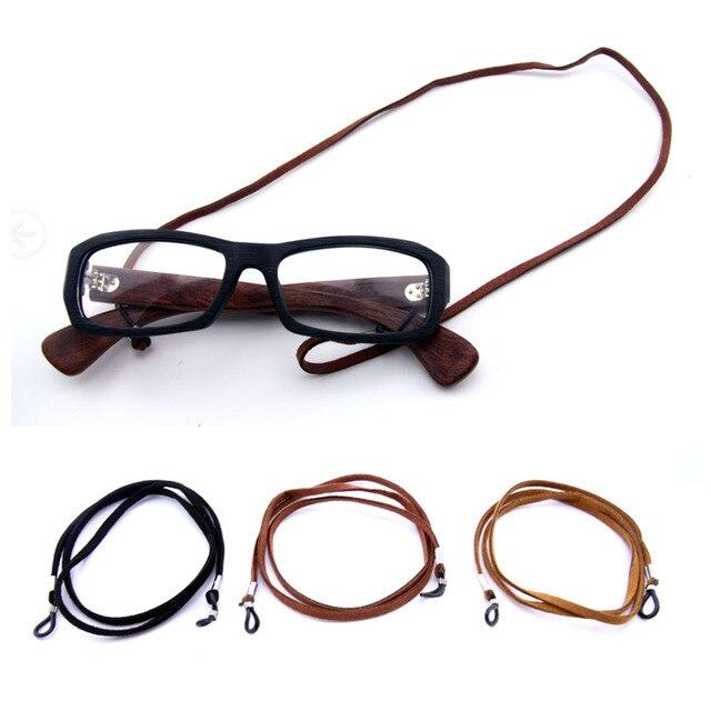 f78dde607409a Moda Adulto Rebites de Camurça cabo De Óculos óculos de Sol Óculos de  leitura titular cadeia