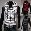 Undershirt Promotion Direct Selling Cotton Colete 2014 Boys Spring with A Hood Zipper Thin Vest Slim Men's Clothing Outerwear
