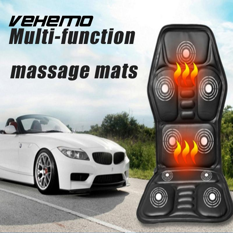 VEHEMO Electric Heated Seat Cushion Multifunction Interior Accessories Car Stying Massage Pad Office Back Neck Waist Relaxation