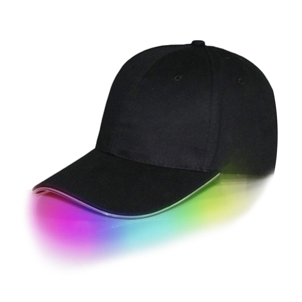 Fashion LED Lighted Up Hat Men Women Unisex Baseball Caps Luminous Club Night Party Hip-Hop Adjustable Sports Solid Novelty Chic led pokemon go baseball caps 100% cotton pocket monster luminous hat for women mens cartoon embroidered hip hop cap go to party