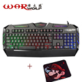 Warwolf K3 LLEVÓ la Energía de la Computadora Teclado Para Juegos Con Cable USB Teclado de Escritorio Portátil Teclado Impermeable Cómodo + Mouse Pad libre