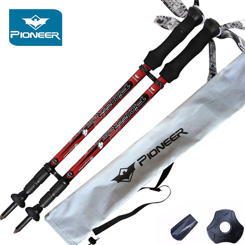 2pcs Trekking Hiking Poles Ultralight Collapsible And Adjustable With Telescoping Shafts Perfect For Hiking Walking Backpacking