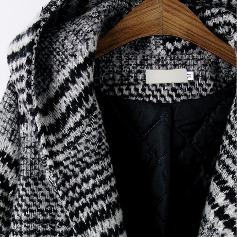 De Femmes Mince Survêtement Md long Pour Automne Hiver Nouveau Marie Épais Robes Plaid Plus Capuchon Taille Manteau Les Se À Manteaux Grand Laine w6BEqEn0