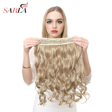 """SARLA 200 pcs/Lot Hairpieces 20"""" Wavy One Piece 3/4  Clip In Synthetic Hair Extensions Resist High Temperature Fiber"""