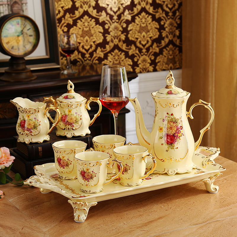 English Tea Supplies: European Tea Set, With Tray, Home English Afternoon Tea