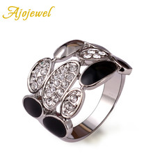 Free Shipping Gold Jewelry 18K White Plated Ring